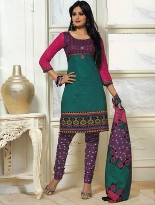 Dress material cotton designer prints unstitched salwar kameez suit d.no PS1313