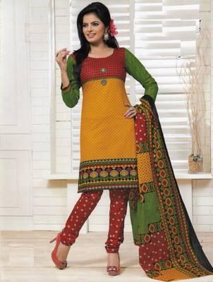 Dress material cotton designer prints unstitched salwar kameez suit d.no PS1318