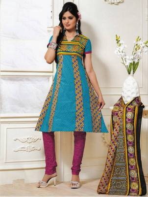 Dress material cotton designer prints unstitched salwar kameez suit d.no PS1320