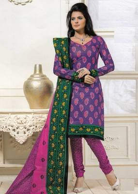 Dress material cotton designer prints unstitched salwar kameez suit d.no PS1324