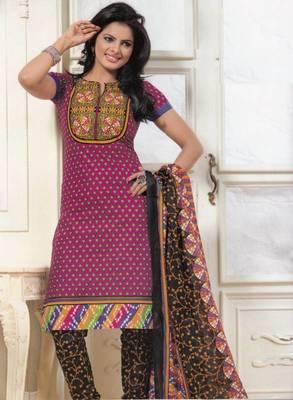 Dress material cotton designer prints unstitched salwar kameez suit d.no PS1332