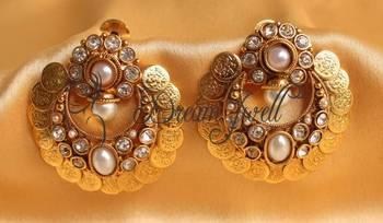 BEAUTIFUL ANTIQUE BALI COIN EARRINGS