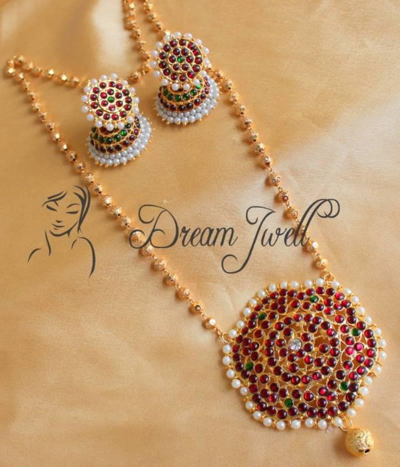 979cf5f088 Lovely Kemp Designer Temple Necklace Set - DREAMJWELL - 155649