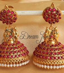 Buy GORGEOUS ANTIQUE KEMP PEACOCK JHUMKKA -DJ11928 jhumka online