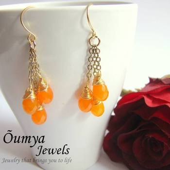 One,Two,Three Orange Crush  earrings