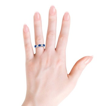 Cubic Zirconia Sterling Silver Swara Ring