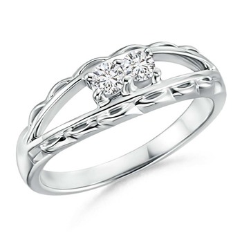 Cubic Zirconia Sterling Silver Janavi Ring
