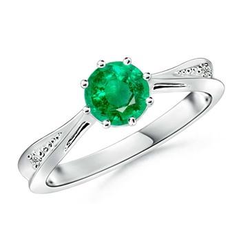 Cubic Zirconia Sterling Silver Nitisha Ring