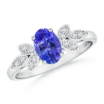 Cubic Zirconia Sterling Silver Anjali Ring