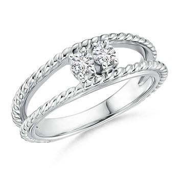 Cubic Zirconia Sterling Silver Kajol Ring