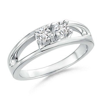 Cubic Zirconia Sterling Silver Aarti Ring