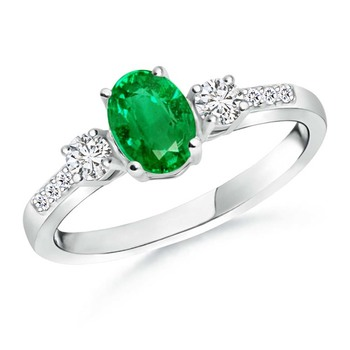 Cubic Zirconia Sterling Silver Nilam Ring