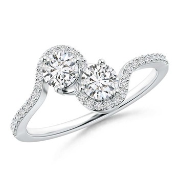 Cubic Zirconia Sterling Silver Rajashree Ring