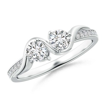 Cubic Zirconia Sterling Silver Aarvi Ring