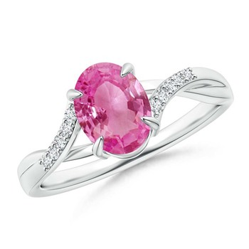 Cubic Zirconia Sterling Silver Varsha Ring