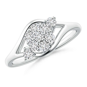 Cubic Zirconia Sterling Silver Purna Ring
