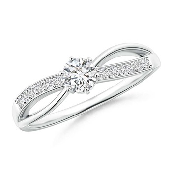 Cubic Zirconia Sterling Silver Kinjal Ring