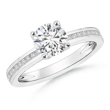 Cubic Zirconia Sterling Silver Ash Ring