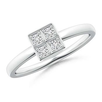 Cubic Zirconia Sterling Silver Diksha Ring