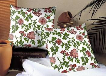 Mystical Flowers Red Cushion Cover Set