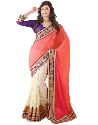 Multi Color Georgette Party Wear Saree