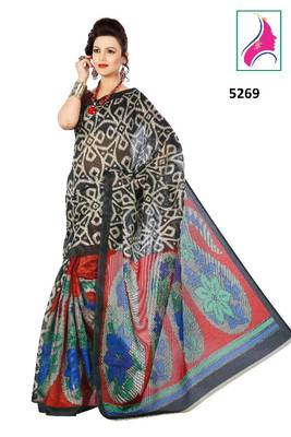 Riti Riwaz Appealing Party Wear Saree in Summer Silk  Fabric  With Un-Stitch Blouse Piece in Classy Black Color 5269