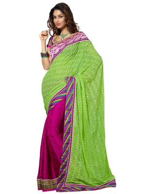 Designer Multicolor Color Bember Fabric Embroidered Saree
