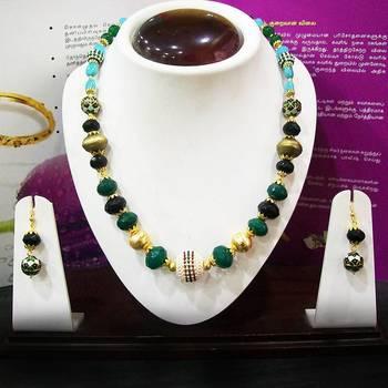 Meenakari Mala with Pearls