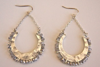 Swarovski element dangle earrings