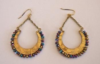 Swarovski element dangle earrings Swarovski element dangle earrings