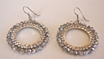 Diamond earrings with swarovski elements