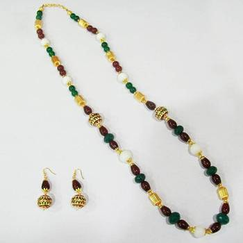 Meenakari Mala with Pearls