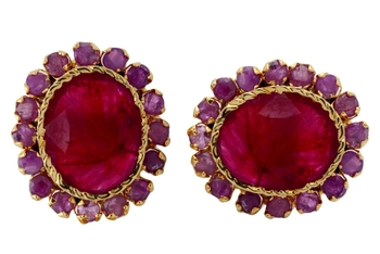BEAUTIFUL SMALL RUBY STONE STUDDED TOPS