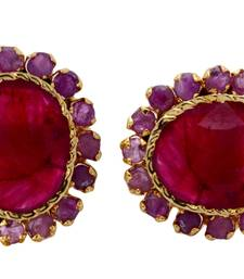 Buy BEAUTIFUL SMALL RUBY STONE STUDDED TOPS stud online