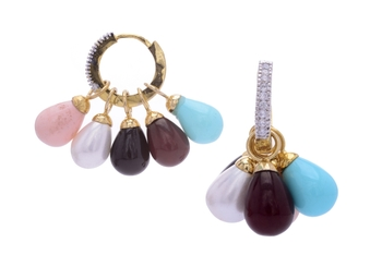 BEAUTIFUL SHELL PEARLS DROPS CHANGEABLE BALI
