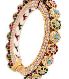 Buy ANTIQUE GOLDEN MULTI COLOUR KADA bangles-and-bracelet online