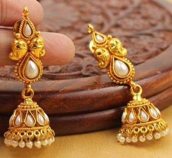 Beautiful Antique Cute Pearl Jhumkas