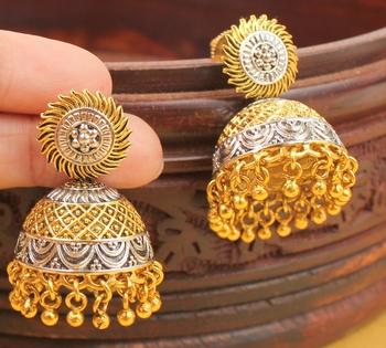 Lovely Cute Two Tone Partywear Jhumka Dj02283