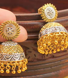 Buy AWESOME DESIGNER TWO TONE JHUMKKAS jhumka online
