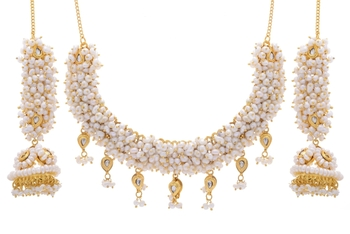 REAL PEARLS NECKLACE SET FROM HYDERABAD
