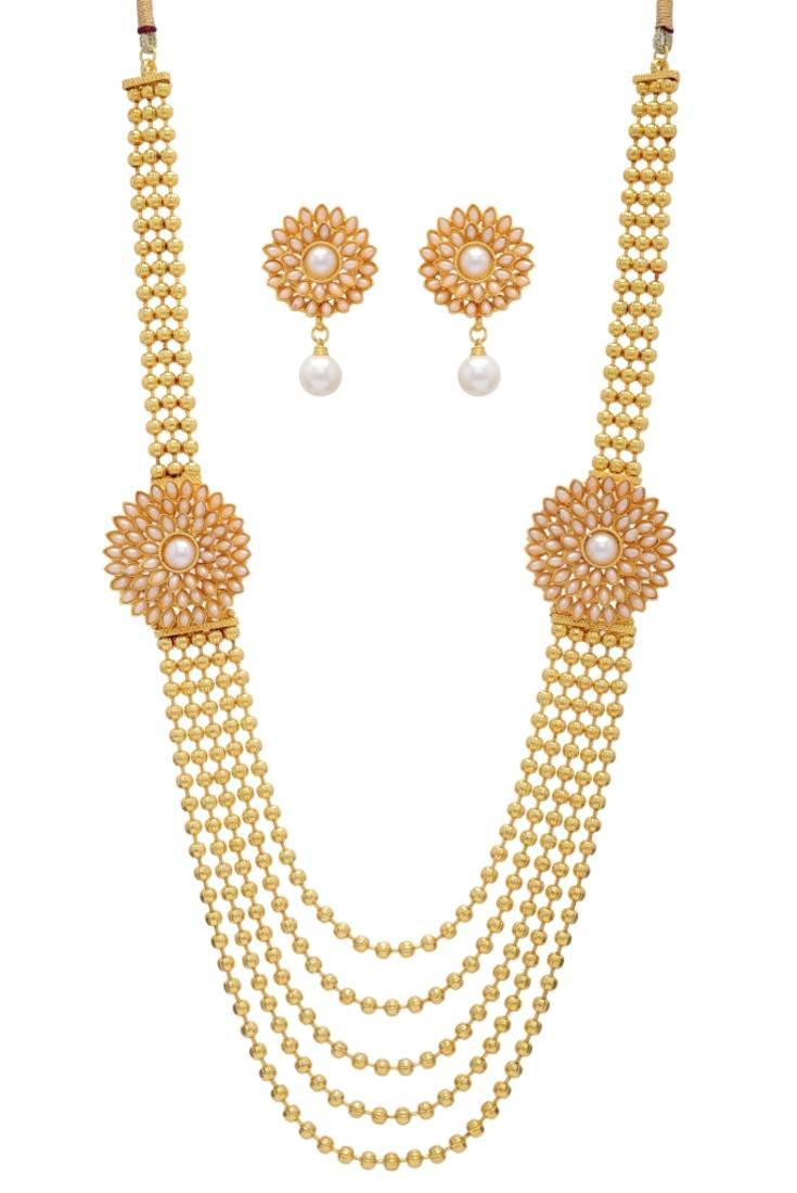 Buy Antique Golden Necklace Set Online