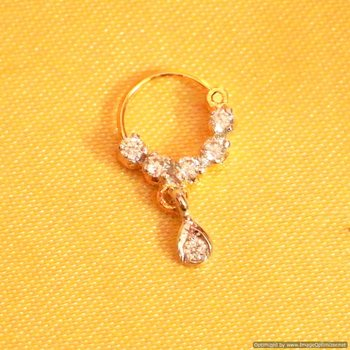 Small Diamond Look Nose Ring