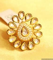 Buy Kundan Meenakari Adjustable Ring Ring online