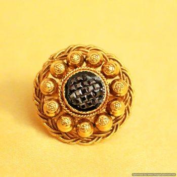 Black Gold Look Antique Adjustable Ring
