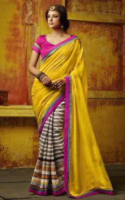 Pure Bhagalpuri and Dupion Silk Gorgeous Indian Saree