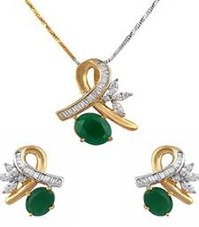 Buy Gold Plated Peacock Pendant Set For Women pendant online