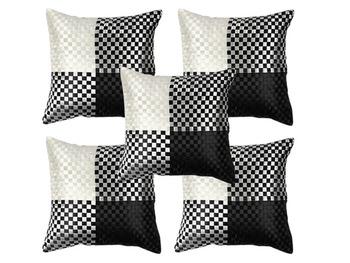 Black N White Cushion Covers-Set of 5
