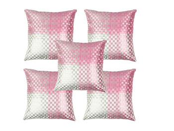 Baby Pink Cushion Covers- Set of 5