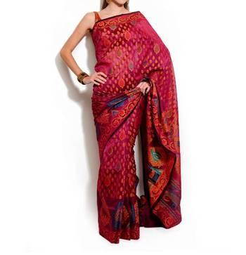 Organza Silk fancy banarasi saree
