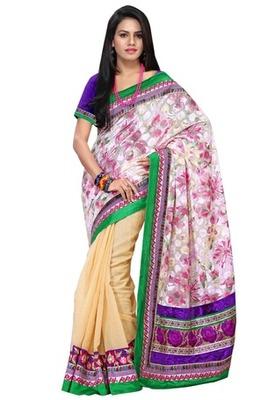 Triveni Elegant Printed Pallu Border Worked Saree TSRH1011